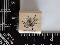 Maple Leaf Wood Mounted Rubber Stamp Gently Used 2002 Stampin' Up! Stampin Up #StampinUp #Background