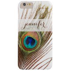 Peacock Feather Custom iPhone 6 Plus Case