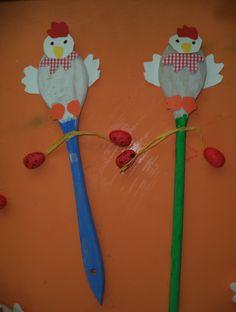 ...Το Νηπιαγωγείο μ' αρέσει πιο πολύ.: Κουταλοκοτούλες,μανταλάκια κοτοπουλάκια και αβγά με λωρίδες χαρτιών