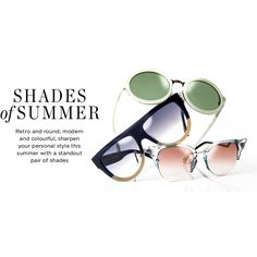 Shades of Summer ❤ liked on Polyvore featuring text, backgrounds, words, magazine, articles, quotes, headline, phrase and saying