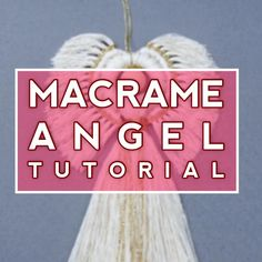 Make your own Angel EASY DIY Macrame Wall Hanging Patterns, Macrame Plant Hangers, Macrame Patterns, Macrame Owl, Macrame Jewelry, Macrame Design, Macrame Projects, Diy Christmas Gifts, Diy Gifts