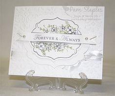 stampin up wedding cards | Wedding Card – SunnyGirlScraps, Pam Staples – Stampin' Up …