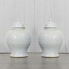 "Lidded Baluster Vases from Ralph Lauren Home. W13 3/4"" x D13 3/4"" x H20 2/4"""