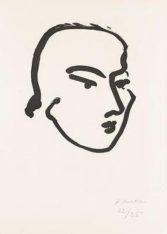 """Henri Matisse """"Nadia"""" 1948 Aquatint on paper print"""