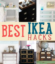 Want the best Ikea hacks? Find everything you need to know about making DIY furniture for much cheaper. Save money with these Ikea dresser hacks and more! Ikea Furniture, Furniture Makeover, Diy Home Decor, Home Diy, Furniture Hacks, Diy Furniture, Ikea Diy, Home Decor, Ikea Furniture Hacks