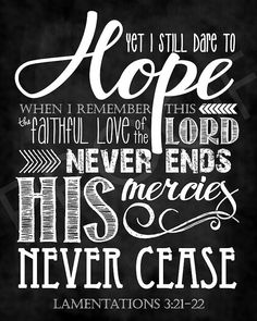 Scripture Art Lamentations by ToSuchAsTheseDesigns Quotes To Live By, Love Quotes, Inspirational Quotes, Scripture Quotes, Bible Scriptures, Teacher Signs, Lamentations, Prayer Verses, Favorite Bible Verses