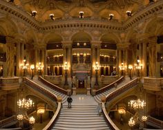 Magnificent chandeliers in the Palais Garnier Opera House, Paris. http://www.italian-lighting-centre.co.uk/