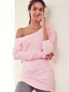 Fleece Off-the-Shoulder Tunic - Victoria's Secret