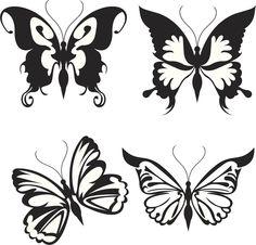 Dibujos de mariposas para tatuajes - Cuerpo y Arte