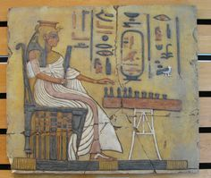 Queen Nefertiti playing Senet