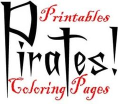 Printable Pirate coloring pages.