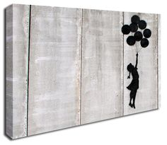 Floating Balloon Girl banksy canvas print http://www.simplycanvasart.co.uk/products/FLOATING-BALLOON-GIRL-478073.aspx