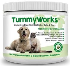 Why is TummyWorks the Best Probiotic Powder for Dogs and Cats?   1. Your Pet's Overall Health Starts With the Bacteria In Their Gut  A healthy gut helps your pet to lead a happy, healthy life. An unhealthy gut causes them to suffer problems like diarrhea, yeast infections, allergies, hot spots, itching and scratching, gas and bad breath. 2. TummyWorks Relieves Gut Problems.  Every scoop of TummyWorks is full of the good bacteria your pet needs to overcome the misery of diarrhea, yeast…