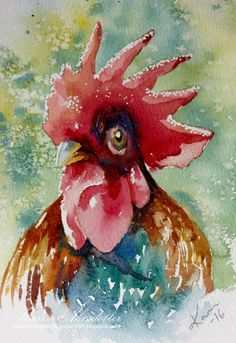 Rooster For more info: I share my creative projects here: https://www.instagram.com/peppermintpatty42/ and on my blog: http://peppermintpattys-papercraft.blogspot.se and on pinterest; https://www.pinterest.se/peppermint42/my-watercolors/