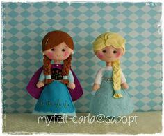 My Felt: Anna and Elsa mini version!