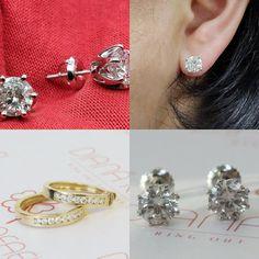 #jewelry #earrings #studearrings #diamondearrings #14kwhitegold #sale #valentinesdaygift