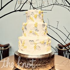 Flower Cut-Out Wedding Cake