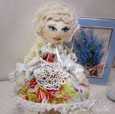 Текстильная кукла  ручной работы Clarissa. от infantaShabbychic