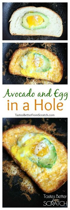 ... easy Breakfast! Avocado and Egg in a Hole from TastesBetterFromS