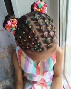 Super Braids For Girls Kids African Americans Beautiful Ideas - Kinder frisuren - Girls Hairdos, Cute Little Girl Hairstyles, Baby Girl Hairstyles, Girls Braids, Party Hairstyles, Straight Hairstyles, Braided Hairstyles, Female Hairstyles, Amazing Hairstyles