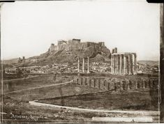 Athènes, Acropole 1851 - Normand Alfred-Nicolas (1822-1909) - Arago Athens History, Greek History, Ancient Greece, Ancient Egypt, Parthenon, Athens Greece, Historical Photos, Belle Photo, Old Photos