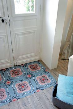 Rose Des Vents Red Vinyl Floor Tiles Vinyls Patterns