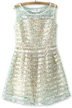 Floral Organza Sleeveless Dress
