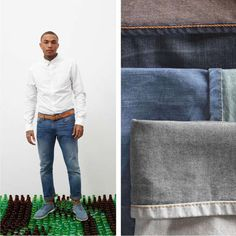 Levi's Waste Less Jeans are Made of Plastic Bottles #ecofriendly #fashion trendhunter.com