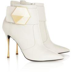 Palace Ruffled White Leather Ankle BootsAquazzura RgOz1a8r