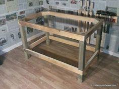 Cómo hacer una estructura de mesa resistente para hacer una mesa de trabajo muy estable para el taller de carpintería casero.
