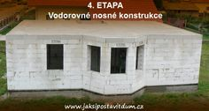 4. ETAPA   VODOROVNÉ NOSNÉ KONSTRUKCE   Betonování věnce a stropního systému