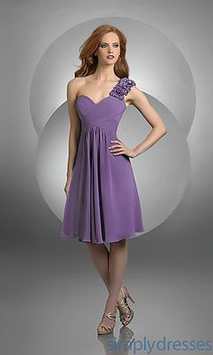 Rosette Strap Bridesmaid Dress by Bari Jay at SimplyDresses.com