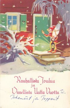 Norwegian Christmas, Christmas Tale, Old Christmas, Merry Christmas And Happy New Year, Retro Christmas, Scandinavian Christmas, Christmas Pictures, Christmas Crafts, Vintage Cards