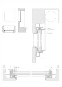 Gallery - Santa Maria Do Bouro Convent / Eduardo Souto de Moura + Humberto Vieira - 43 Santa Maria, Contemporary Architecture, Architecture Details, Window Detail, Construction Drawings, Detailed Drawings, Technical Drawings, Carlo Scarpa, Building Systems