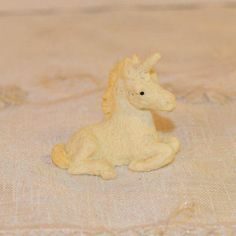Miniature Unicorn Figurine Vintage Magical by ShellysSelectSalvage