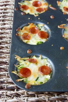 Mini Zucchini Pizza Bites, low carb, gluten free, grain free sugarfreemom.com