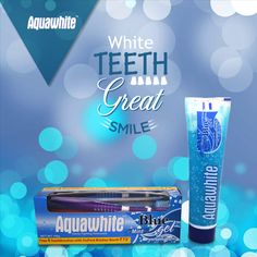Aquawhite Mint Blue gel toothpaste helps to get rid of bad breath, giving you the spark you need.