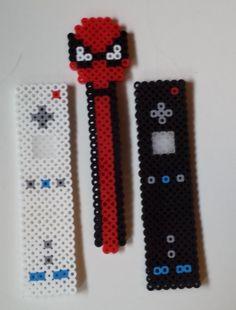 Perler bookmarks.