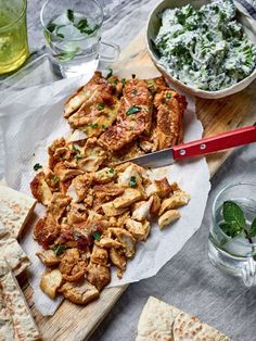 Nadiya Hussain's tasty chicken shawarma recipe is a real crowd-pleaser that beats your local kebab shop. Served with flatbreads and raw slaw, this makes a delicious midweek dinner. Nadiya Hussain Rezepte, Nadiya Hussain Recipes, Time To Eat, Indian Food Recipes, Ethnic Recipes, Bbc Good Food Recipes, Cooking Recipes, Healthy Recipes, Savoury Recipes