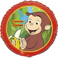 "18"" Curious George Childrens Birthday Party Mylar Foil Balloon https://twitter.com/BandPUSA"
