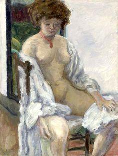 Pierre Bonnard (1867-1947) Nu au peignoir