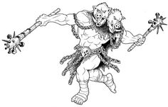 Ettin barbarian | A Monster a Day