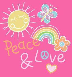 Peace & Love - print by @designbyday
