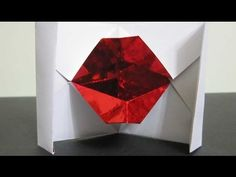 """Tutorial """"How to make an origami Kissing Lips"""" by Irene Blchua Kissing Lips, Origami Videos, Interactive Cards, Origami Paper, Cool Diy, Projects To Try, Paper Crafts, Stamp, Fancy"""