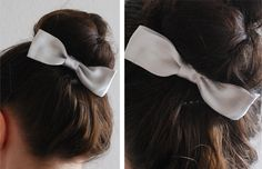 Bow Hair Clip:  Ribbon or fabric – The amount depends on the size of the bow you want to create. I'd recommend at least 12 inches.  Alligator clip   Hot glue gun  Scissors