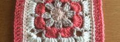 Gratis patroon Vintage Rose square met foto tutorial - Laura Haakt