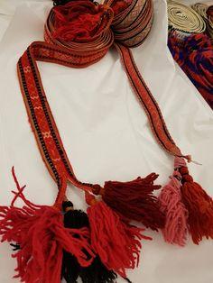 Grindvevde forklebånd Øst-Telemark Tassel Necklace, Weaving, Wool, Band, Jewelry, Fashion, Moda, Sash, Jewels