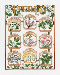 Janlynn - The Herb Garden Counted Cross Stitch Kit # 023-0600