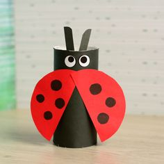 Kids Craft: Paper Tube Ladybug