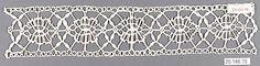 Date:      16th century  Culture:      Italian (Genoa)  Medium:      Bobbin lace  Dimensions:      L. 9 1/4 x W. 2 inches (23.5 x 5.1 cm